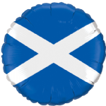 "18"" St. Andrew's Cross Scottish Flag Foil Balloon"